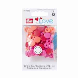 Boutons pression Prym rouge